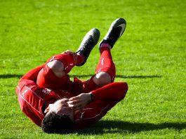Verletztes Knie durch Sportunfall